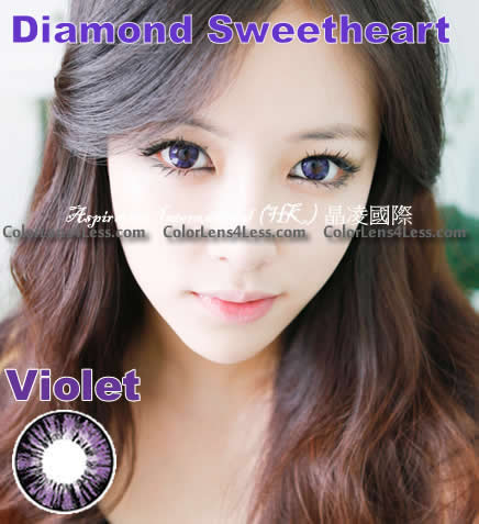 MI Pineapple Violet Colored Contacts (Pair)